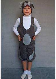 Карнавальный костюм Собачка №1 (тёмно-серый)