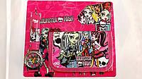 Набор детский для девочки часы и кошелек Monster High