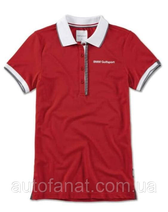 Оригинальная женская рубашка-поло BMW Golfsport Polo Shirt, Ladies, Red/White (80142460923)