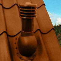 Вентиляционный выход Kronoplast KBW для металлочерепицы высотой волны до 34 мм  D-125 мм коричневый