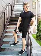 """Модная мужская летняя футболка """"Брюс Ли"""" черная удлиненная спереди - M, L"""