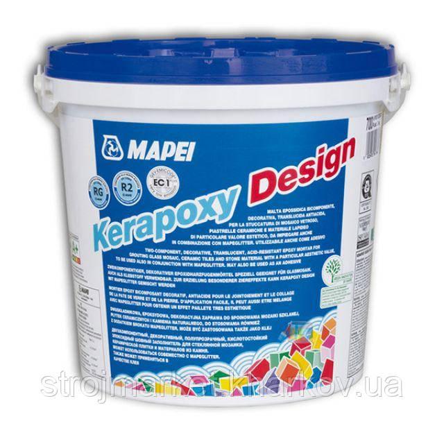 Эпоксидная двухкомпонентная затирка Kerapoxy Design TM MAPEI 3кг (Италия)