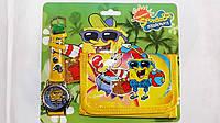 """Набор детский для мальчика часы+кошелек """"SpongeBob"""""""