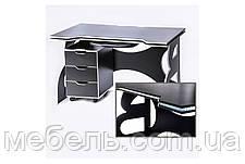 Офисный стол  с тумбой Barsky HG-06/LED/CUP-06/ПК-01 Game White, фото 2