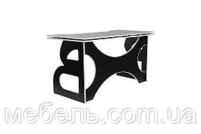 Офисный столс тумбой Barsky Game White LED HG-06/LED/CUP-06/ПК-01, фото 3