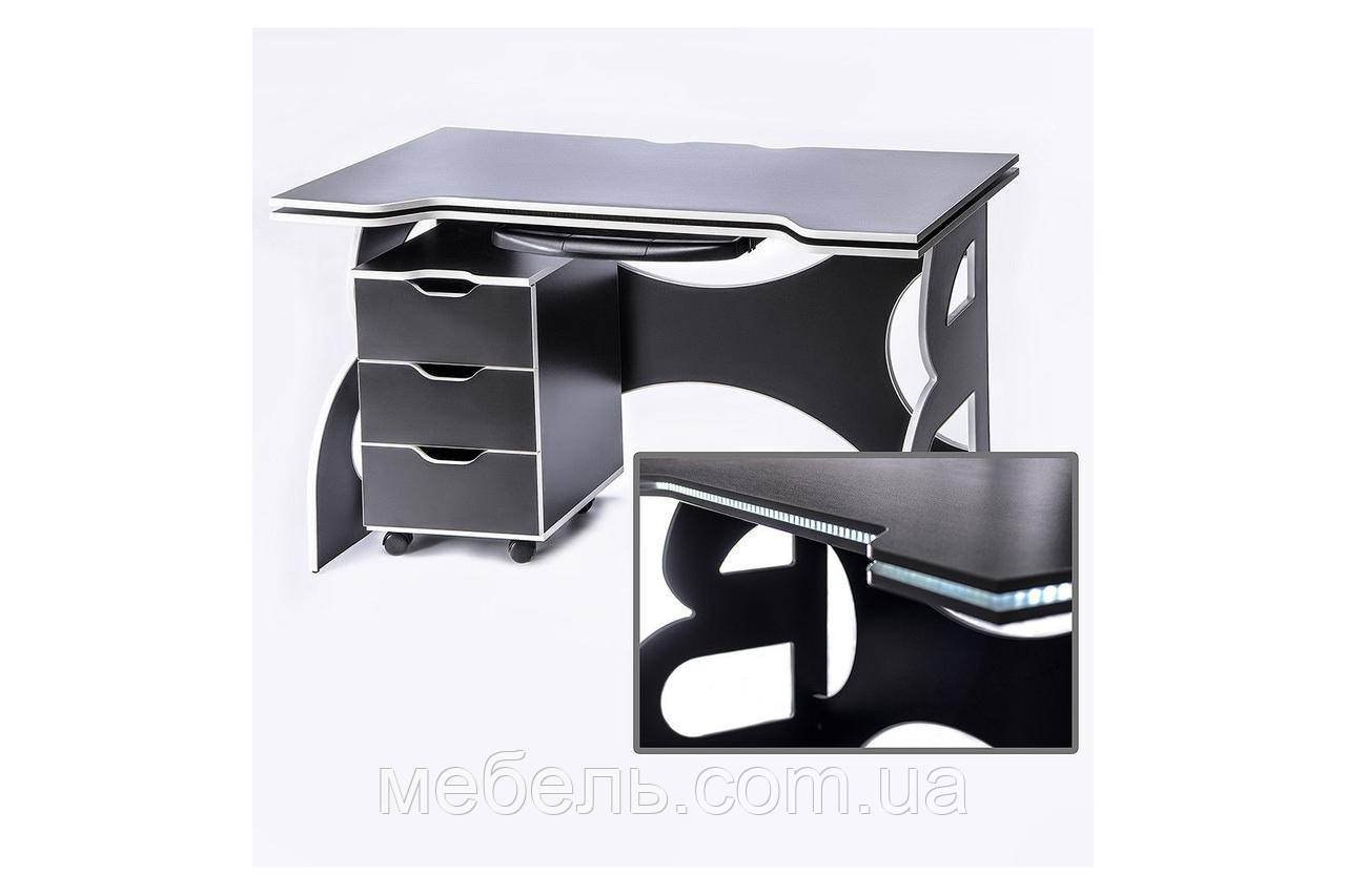 Стол регулируемый по высотес тумбой Barsky Game White LED HG-06/LED/CUP-06/ПК-01