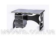 Комп'ютерні столи стіл регульований по висоті з тумбою Barsky Game White LED HG-06/LED/CUP-06/ПК-01, фото 3