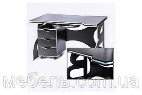 Геймерский компьютерный столс мобильной тумбой Barsky Game LED White HG-06/LED/CUP-06, фото 2