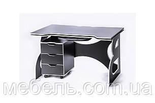 Компьютерный стол для детейс мобильной тумбой Barsky Game LED White HG-06/LED/CUP-06, фото 2