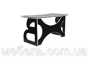 Компьютерные столы стол регулируемый по высотес мобильной тумбой Barsky Game LED White HG-06/LED/CUP-06, фото 3
