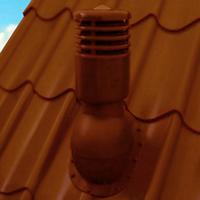 Вентиляционный выход Kronoplast KBWО для металлочерепицы высотой волны до 34 мм  D-150 мм коричневый