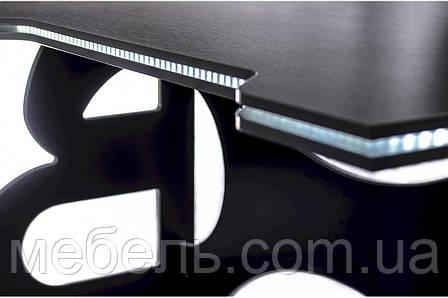 Компьютерный стол для детей Barsky Homework Game White HG-06 LED 1400*700, фото 2