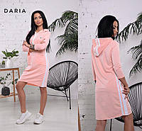 Женское платье туника в спортивном стиле в расцветках. Ч-2-0519