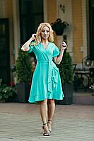 Платье женское на запах цвета мяты, фото 1