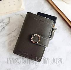Маленький женский кошелек бренда DEDOMON DarkGreen
