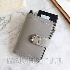 Маленький женский кошелек бренда DEDOMON Gray