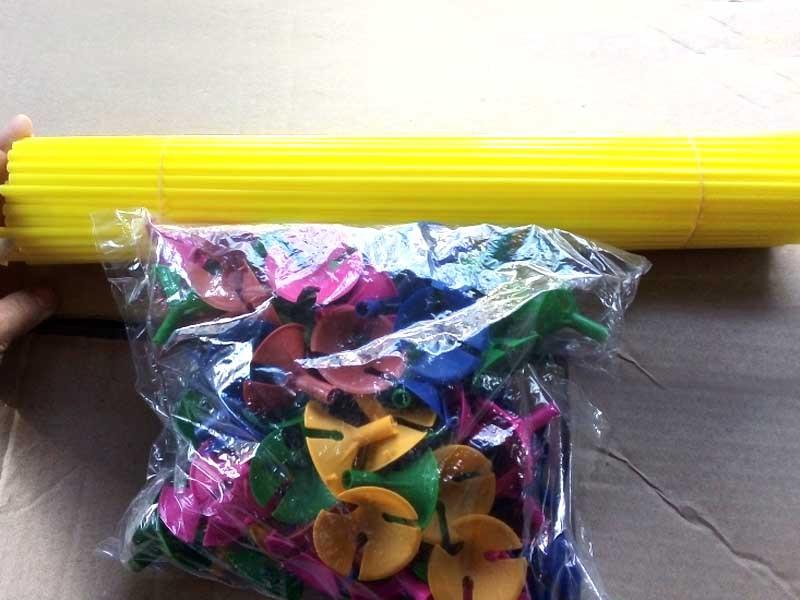 Палочка для воздушного шара цветная 100шт