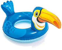 Детский надувной плавательный круг для плавания игрушка тукан Intex 58221
