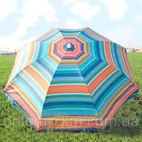Пляжный зонт UMBRELLA 180 С наклоном, клапоном и напылением am