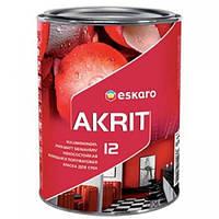 Краска ESKARO Akrit 12 износостойкая моющаяся полуматовая для стен (белый), 0.95 л