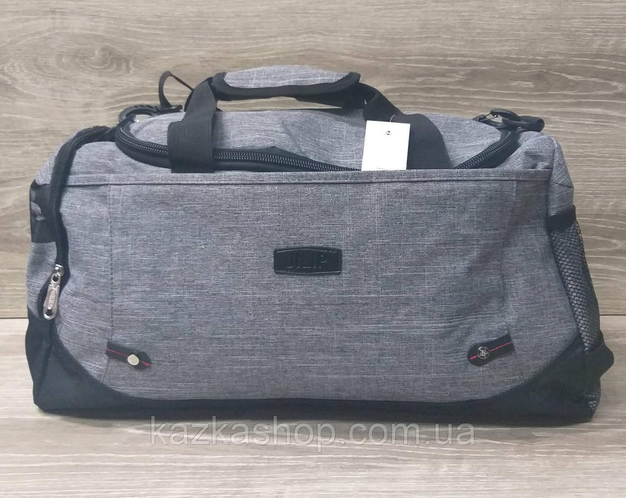 Дорожная сумка хорошего качества, среднего размера 50х25х22 см, плотный материал, ножки на дне сумке