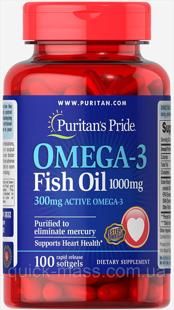 Омега-3 Puritan`s Pride Omega 3 Fish Oil 100 caps