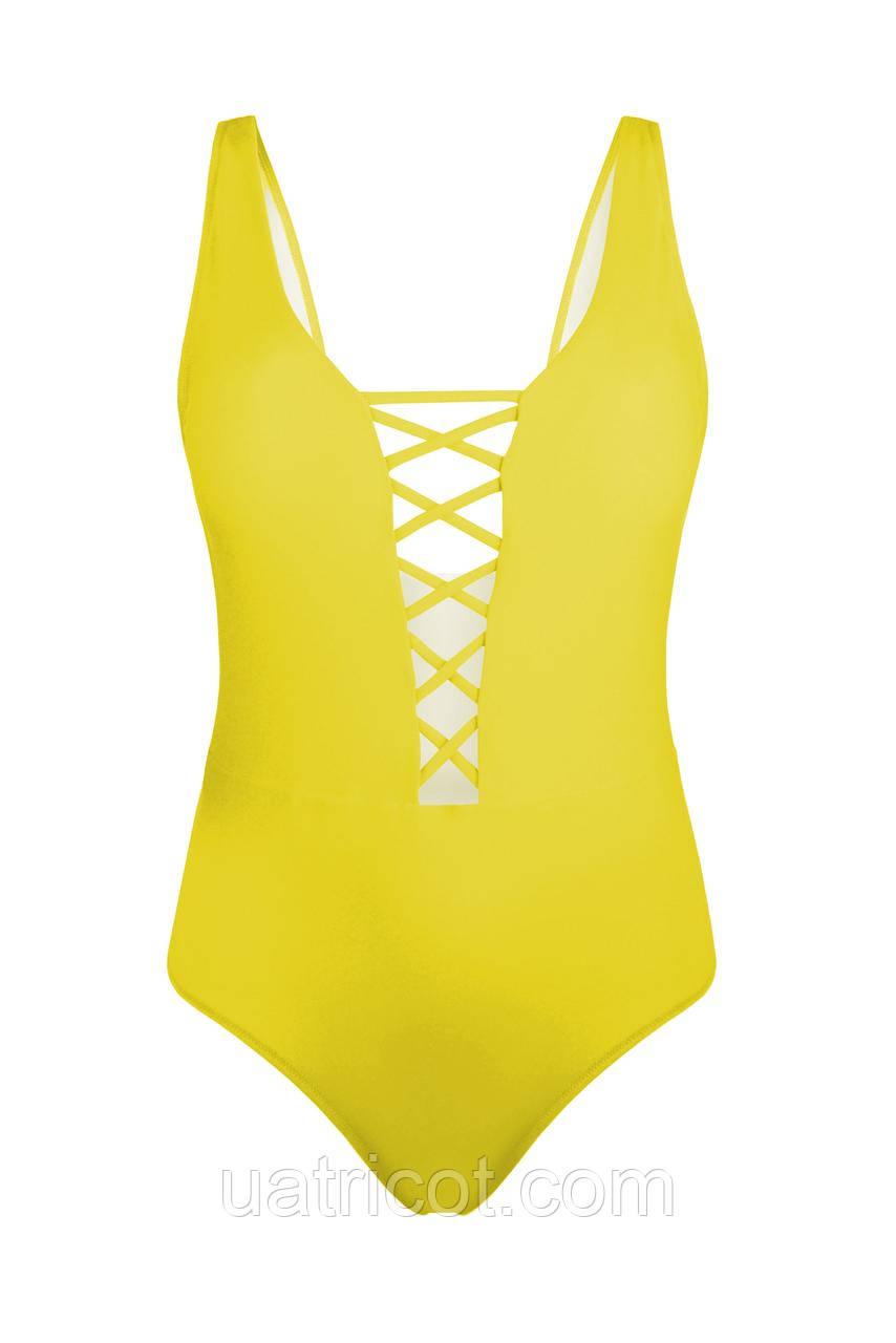Купальник женский пландж KIFA К-866 желтый