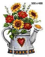 """Декорация """"Цветы в чайнике"""""""