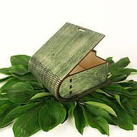 Шкатулка деревянная зел.