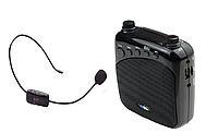 Усилитель голоса с беспроводным микрофоном FM WM-777   (USB/аккумулятор), фото 1