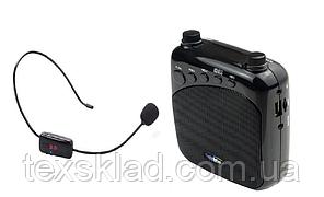 Підсилювач голосу з бездротовим мікрофоном FM WM-777 (USB/акумулятор)