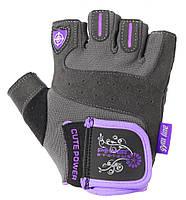 Перчатки для фитнеса и тяжелой атлетики Power System Cute Power PS-2560 женские Purple XL, фото 1