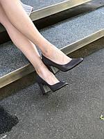 Туфли женские кожаные Favor серые, фото 1