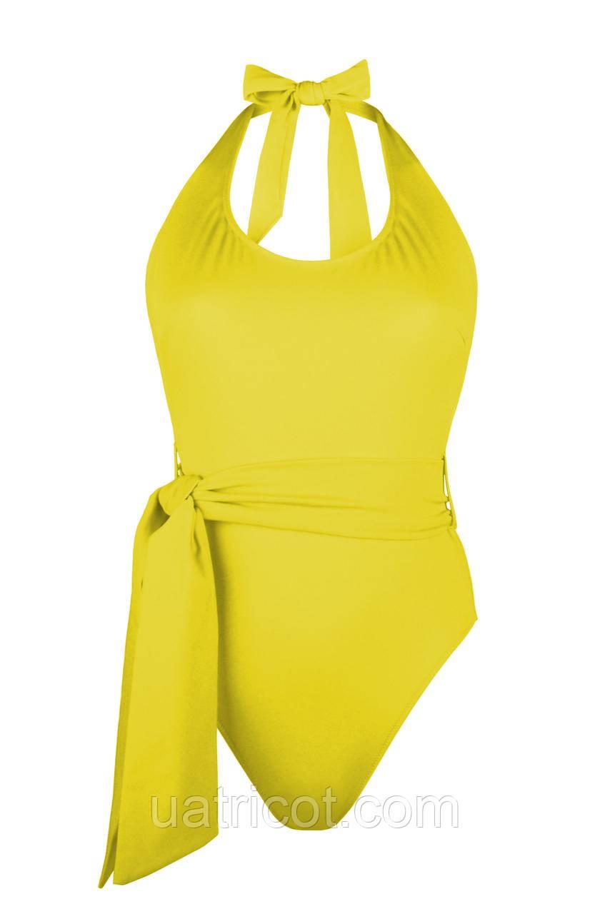 Купальник женский халтер KIFA К-871 желтый