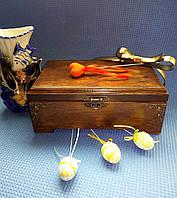 Декоративная шкатулка на ножках с фурнитурой (26х16х11см)