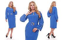 Платье женское Екатерина василькового цвета 52,54,56,58, фото 3