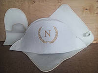 "Набор для бани сауны белый ""Наполеон"" V3"