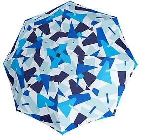 Зонт складной Doppler 7441465CR (Допплер) Антиветер. Полный автомат Синий