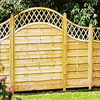 Комбинированный забор из дерева