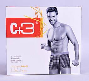 Мужские трусы - боксеры C+3  007 L  Черный с серебреным, фото 2