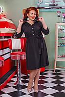 Женское платье под пояс рукава с лампасами 50, 52, 54, 56