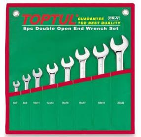 Набір ріжкових ключів 8 шт. 6-22 Toptul GAAA0812