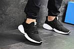 Мужские кроссовки Adidas (черно-белые), фото 2
