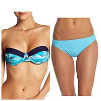 Женский оригинальный голубой раздельный купальник Adidas, фото 1
