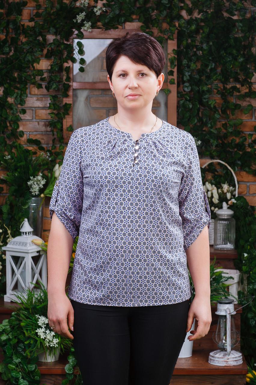 Женская блуза летняя с узором Бл-6121