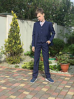 Классический костюм в клетку для мальчика  116, 128, 134,140 см