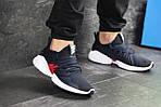 Мужские кроссовки Adidas (темно-синий, с белым), фото 2
