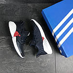 Мужские кроссовки Adidas (темно-синий, с белым), фото 4