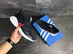 Мужские кроссовки Adidas (темно-синий, с белым), фото 5