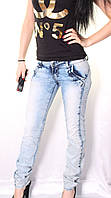 Облегченные женские джинсы